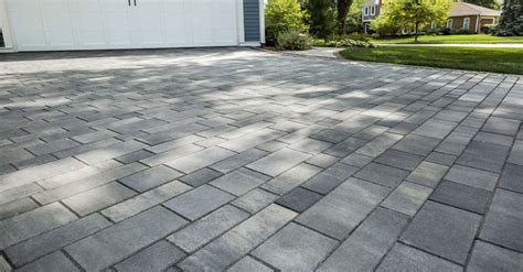 pictures of driveways with pavers advantages of concrete pavers for your howell lansing ann arbor driveway paving unilock