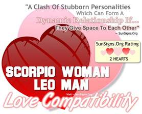 scorpio woman and leo man a dynamic but stubborn match