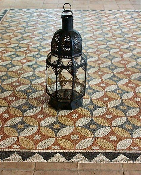 mosaic floor tiles classic design terrace rug