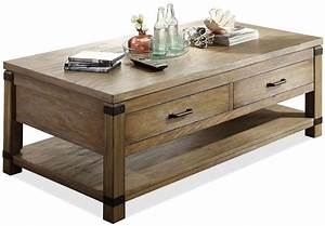 rectangular cocktail table with 2 drawers by riverside With rectangle coffee table with drawers