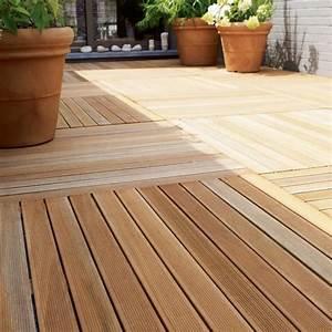 Bois Exotique Pour Terrasse : dalle de bois castorama ~ Dailycaller-alerts.com Idées de Décoration