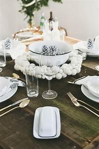 Table De Noel Blanche : d co table no l originale et l gante pour une f te inoubliable ~ Carolinahurricanesstore.com Idées de Décoration