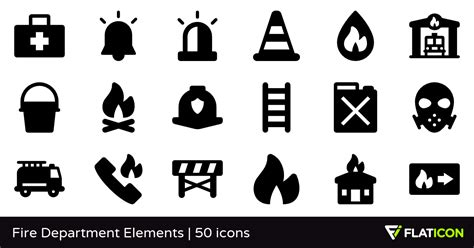 Be sure to check out our website at svgfilesfree.com. Fire Department Elements 50 free icons (SVG, EPS, PSD, PNG ...