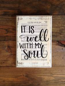 it is well with my soul hymn wall art hymn board With hand lettered wooden signs