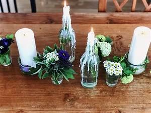 Blumendeko Selber Machen : einfache blumendeko in glasflaschen diy und gedanken zur konfirmation ~ Markanthonyermac.com Haus und Dekorationen