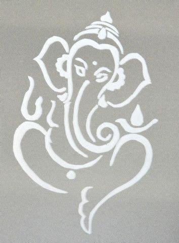 large ganesh stencil google search ganesha painting