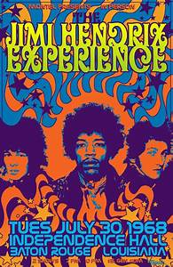 The Jimi Hendrix Experience Concert Poster © (Tomasek ...