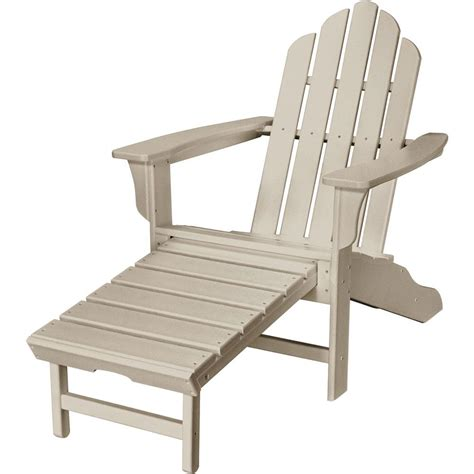 hanover sand all weather plastic outdoor adirondack chair