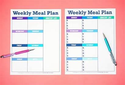 Meal Weekly Template Printable Plan Planner Menu