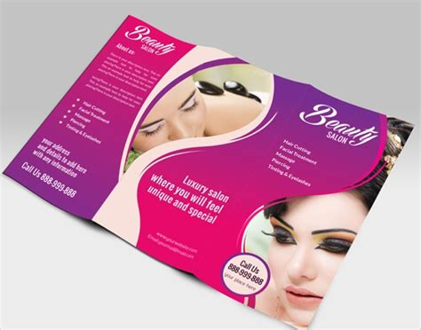 salon brochures vector eps psd