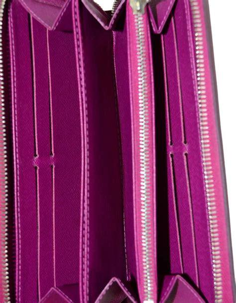 louis vuitton fuchsia epi leather zippy wallet  sale  stdibs
