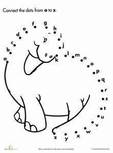 alphabet dot to dot dinosaur worksheets With dot to dot letters and numbers