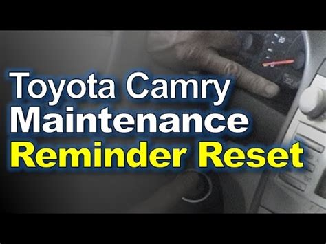 camry maintenance light reset how to reset maintenance light toyota camry 2005 2012