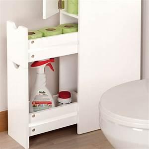 Meuble Gain De Place Pour Studio : meuble wc tag re bois 3 portes blanc gain de place pour ~ Premium-room.com Idées de Décoration