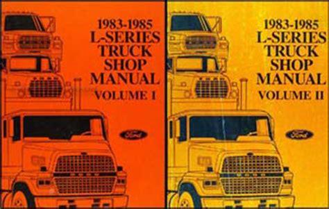 best car repair manuals 1985 ford e series on board diagnostic system 1983 1985 ford l series truck repair shop manual ln lt lns ltl lts 600 9000