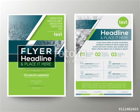 modèle de flyer word quot green and blue geometric poster brochure flyer design