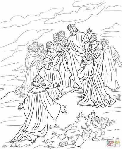 Coloring Jesus Commission Pages Tomb Transfiguration Empty