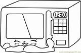 Microwave Coloring Shopkins Pages Zappy Colouring Coloringpages101 Printable Microwaves Template sketch template