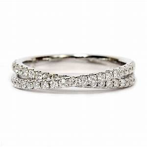 this artfully crafted 14k white gold wedding band by scott With criss cross wedding ring