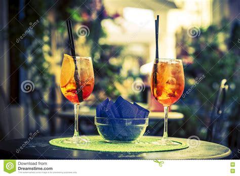 Aperol Spritz Cocktail Cartoon Vector
