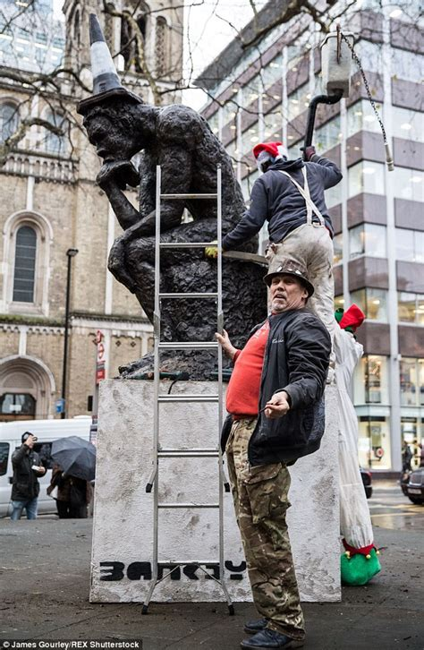 Banksy sculpture 'The Drinker' returned to Shaftsbury ...