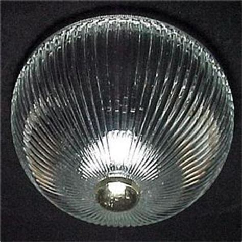 glass bowl light fixture replacement ribbed clear glass 8 in ceiling light pan shade globe for