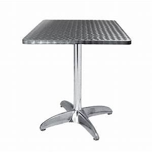 Table Terrasse Aluinox 60X60 Cm TRA 42C60 One Mobilier