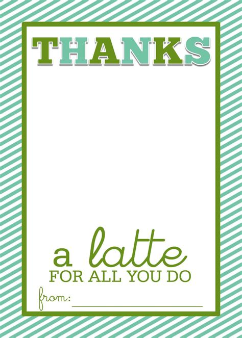 Personalize and print national teacher appreciation week cards from home in minutes! FREE PRINTABLE for Teacher Appreciation Week. Glue coffee cup sleeve to the front and tuck a ...