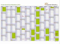 Ferien NordrheinWestfalen 2013 Ferienkalender zum