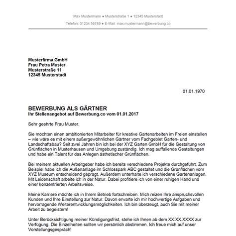 Anschreiben Ausbildung Garten Landschaftsbau by Im Garten Kostenlos