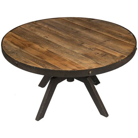 table basse industrielle ronde table basse ronde plateau moyen r 233 glable bois recycl 233