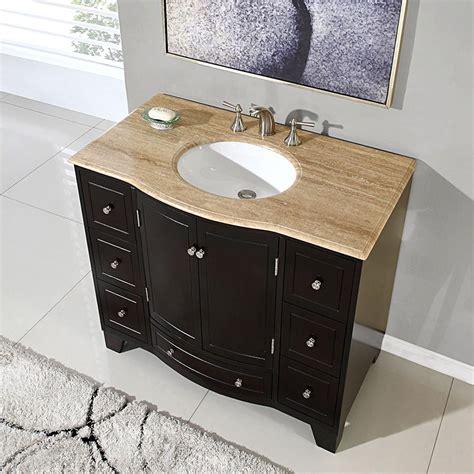 silkroad exclusive  single sink cabinet travertine