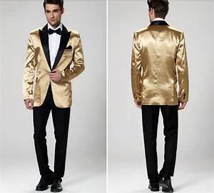 Costume Homme 2017 : new 2017 men wedding party suit gold jacket groom tuxedos for men wedding suits for men ~ Preciouscoupons.com Idées de Décoration