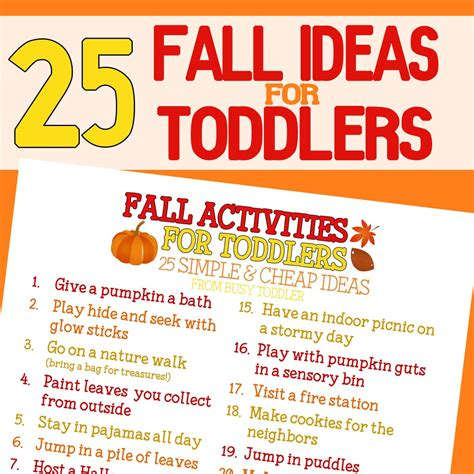 best fall activities fall bucket list for toddlers busy toddler