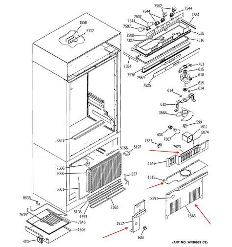 ge monogram zicn refrig   freezer section    working fine