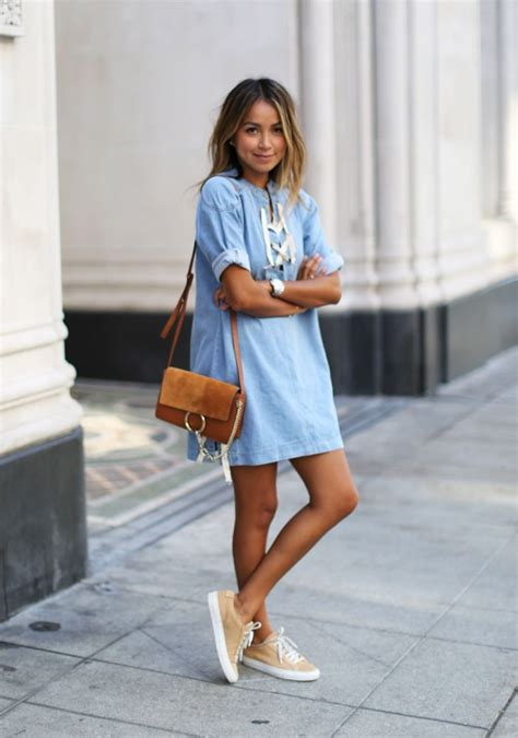 Insanely cool ideas to wear denim dress for street styling u2013 Designers Outfits Collection