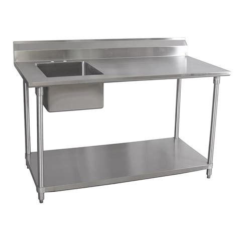 stainless steel table l bk resources stainless steel prep table 30 quot x 72 quot x 35 quot w