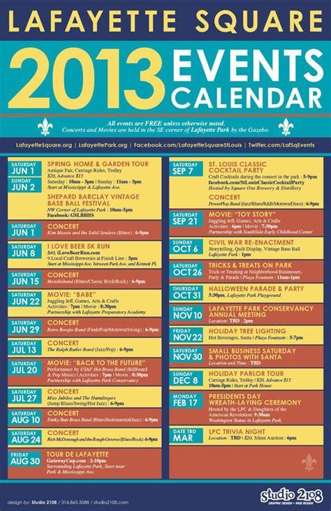 lafayette square calendar home pinterest