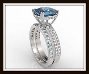 London blue topaz wedding ring set vidar jewelry for Blue topaz wedding ring sets