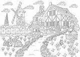 Coloring Pages Adults Adult Scenic Printable Places Travel Want Landscape 30seconds Colouring Farm Escape Zentangle Antistress Freehand Sketch Drawing Tip sketch template