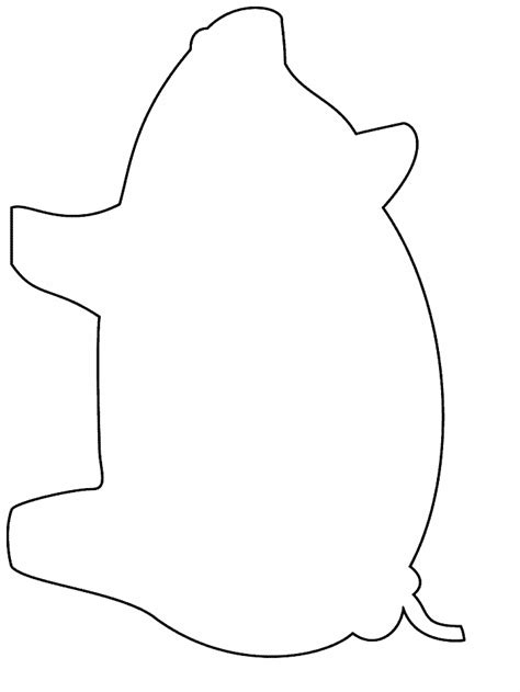 pig template printable simple shapes pig coloring pages coloringpagebook