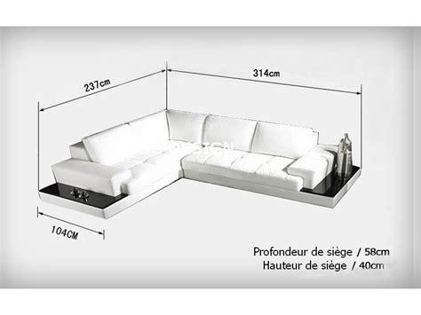 canape d angle dimension canapé d 39 angle design en cuir loretto avec casiers de