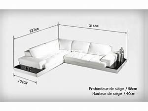 canape d39angle design en cuir loretto avec casiers de With dimension canapé d angle 4 places
