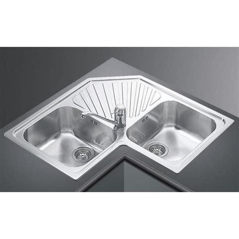 corner stainless steel kitchen sink smeg kitchen corner sink alba sp2a 2 bowls stainless 8368