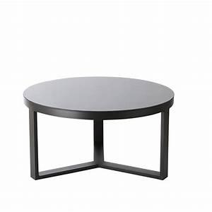 beautiful table de jardin plateau verre noir images With table basse bois noir