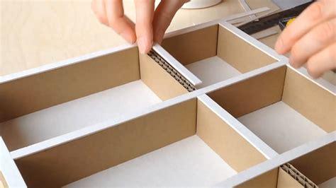 Storage Ideas For Kitchen Cupboards - diy how to make a cardboard drawer organizer hd corrugated cardboard furniture youtube