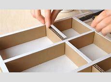 DIY How to make a cardboard drawer organizer HD