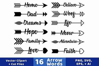 Arrow Arrows Clipart Words Rustic Vector Graphics