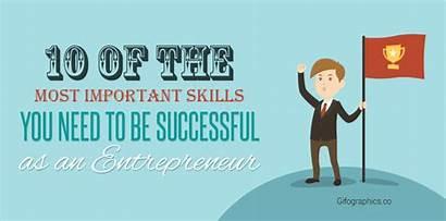 Entrepreneur Successful Skills Important Need Gifographics