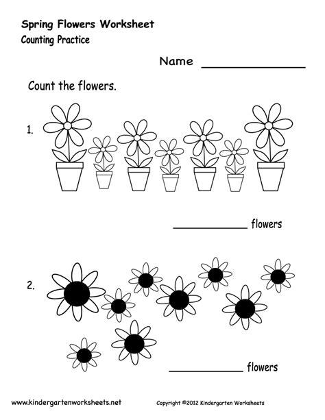kindergarten spring flowers worksheet printable spring worksheets worksheets for kids
